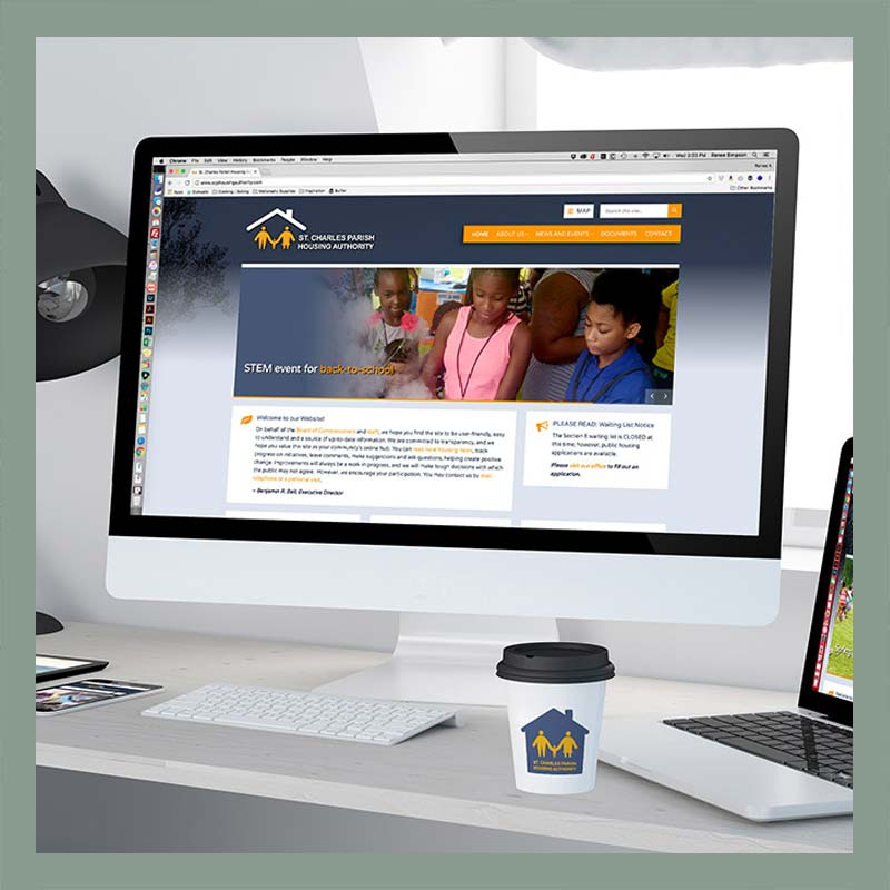 St. Charles Parish Housing Authority Website by Melismatic Designs LLC