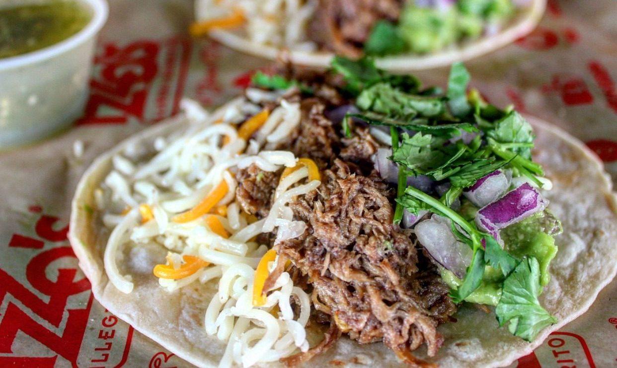 Izzo's Illegal Burrito Pork Tacos