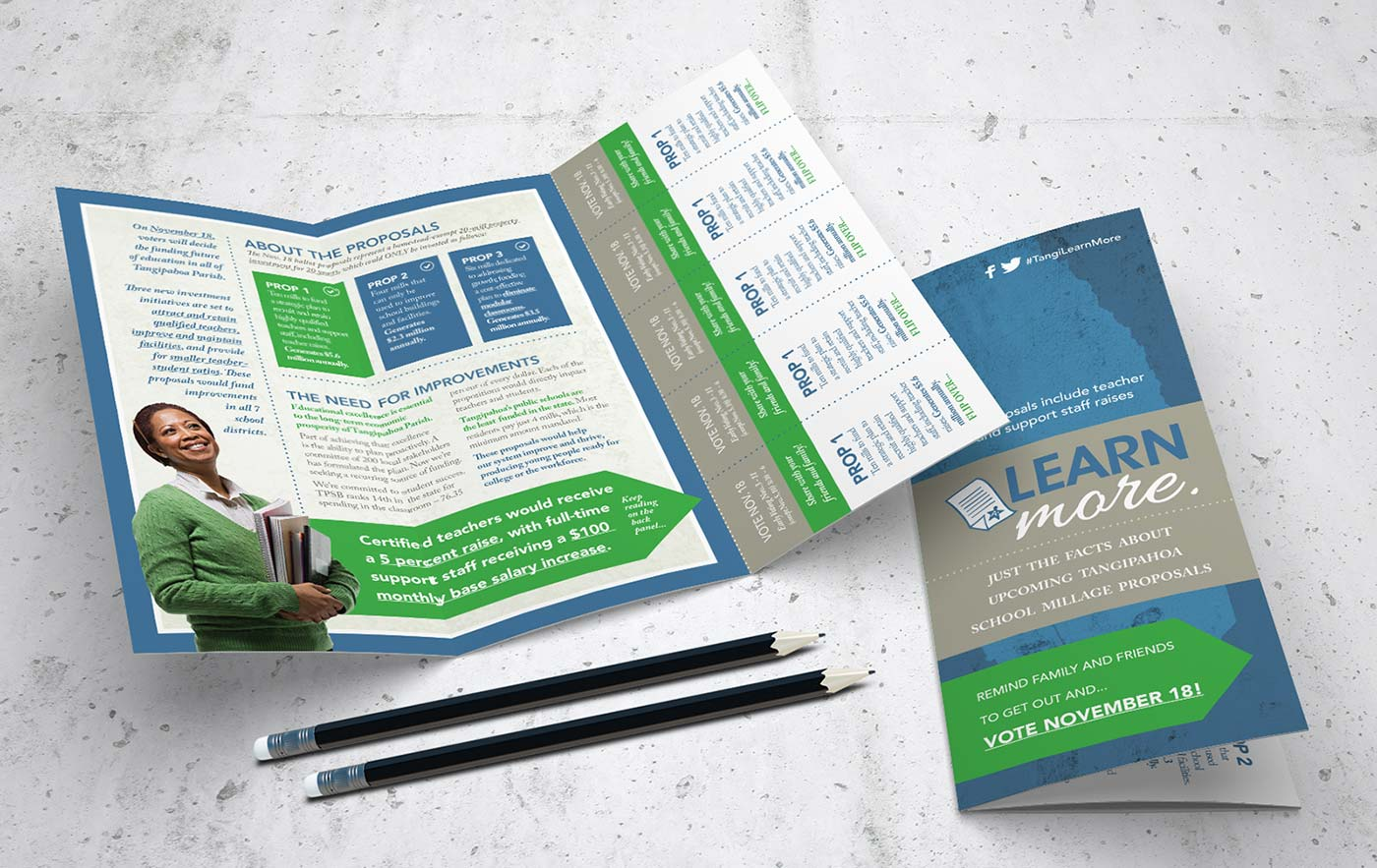Tangi Learn More Trifold Brochure Design