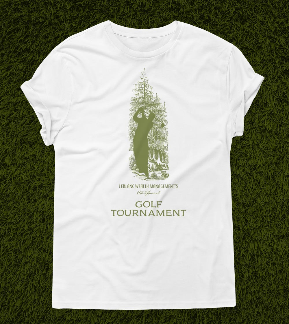 LeBlanc Wealth Management Golf Tournament T-Shirt Design