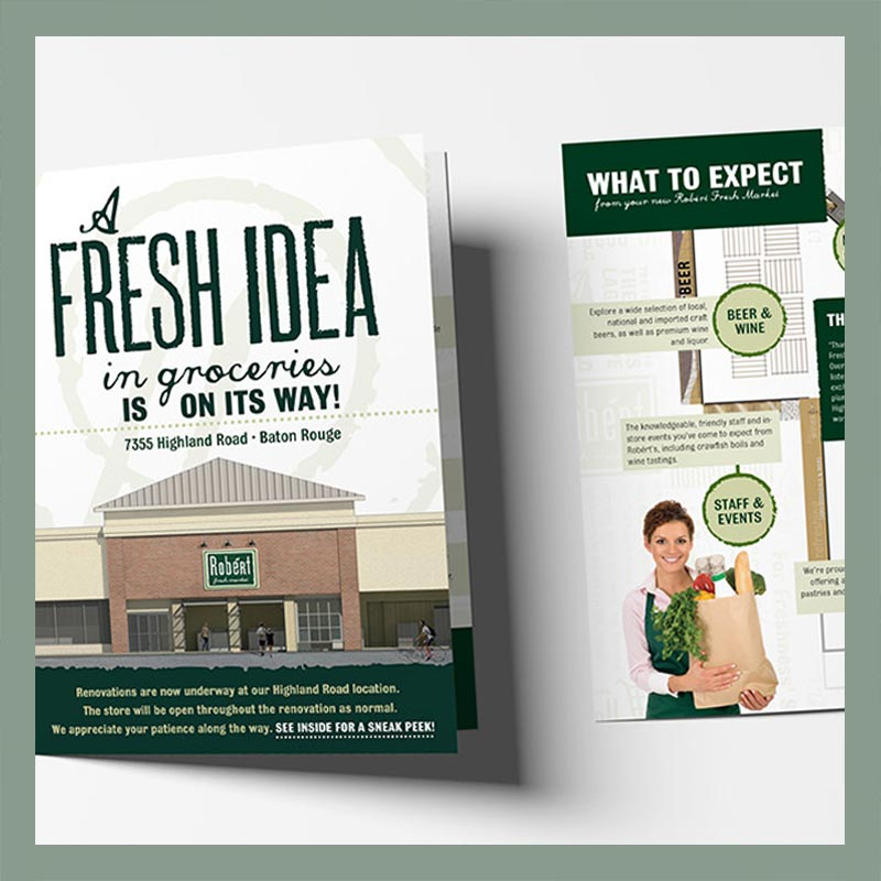 Robért Fresh Market Direct Mailer by Melismatic Designs LLC