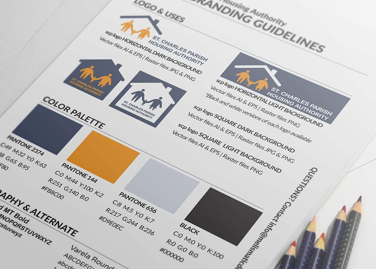 St. Charles Parish Housing Authority Branding by Melismatic Designs LLC